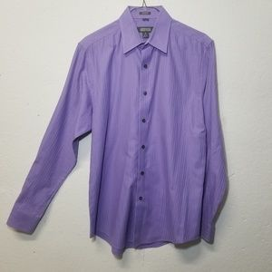 K COLE Purple Slim Dress Shirt Medium